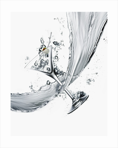 Martini and Stream of Water by Corbis