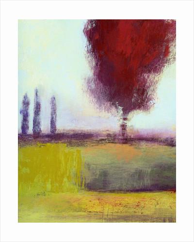 Three Cypress by Lou Wall