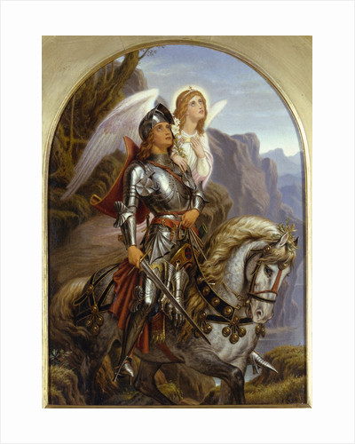 Sir Galahad and His Angel by Noel Paton