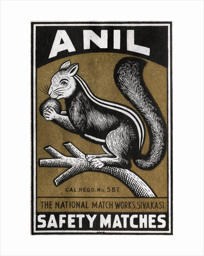 Anil Indian Matchbox Label by Corbis