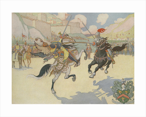 Book Illustration of Captain John Smith Jousting by E. Boyd Smith