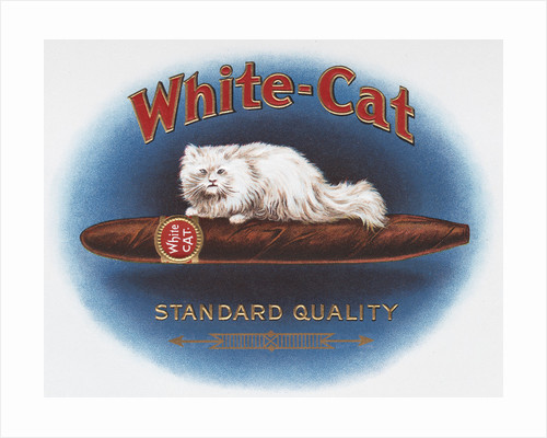 White Cat Cigar Label by Corbis