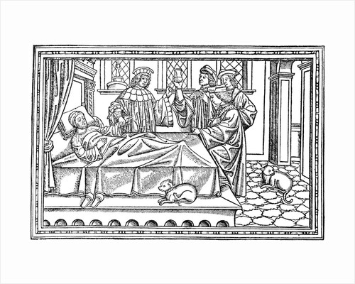 Four Physicians Visiting a Patient by Corbis