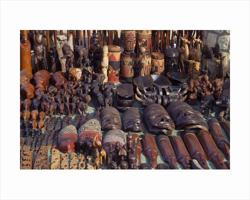 Wood Carvings at Bazaar by Corbis