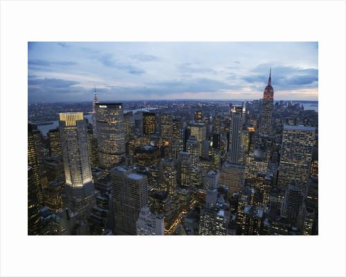 Midtown Manhattan Sparkles at Dusk by Corbis