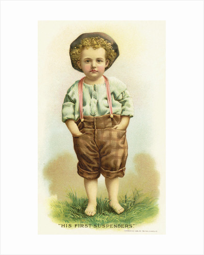 His First Suspenders Trade Card by Corbis