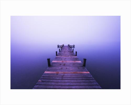 Footbrige at Lake Starnberg by Corbis