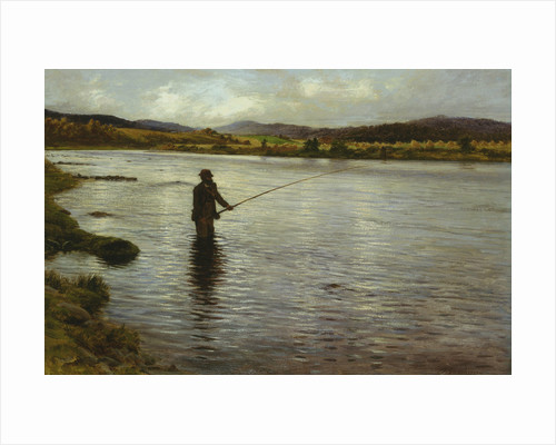 Salmon Fishing on the Dee by Joseph Farquharson