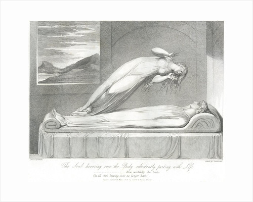 The Soul Hovering over the Body Reluctantly Parting with Life by William Blake