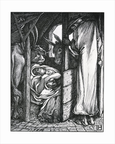 Illustration of the Nativity by Laurence Housman
