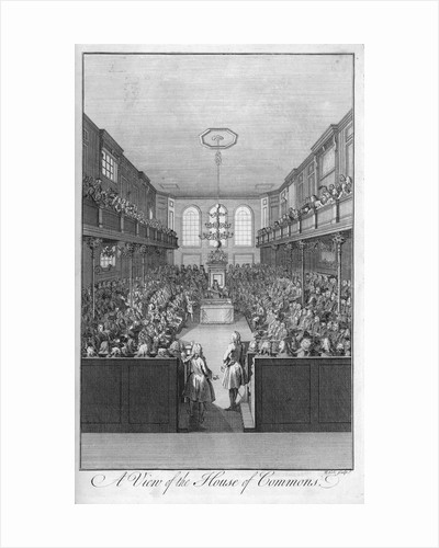 A View of the House of Commons by B. Cole