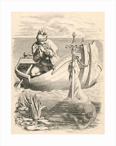 Illustration of King Arthur Receiving Excalibur by Daniel Maclise