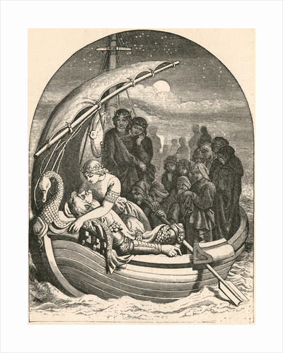 Illustration of the Death of King Arthur by Daniel Maclise