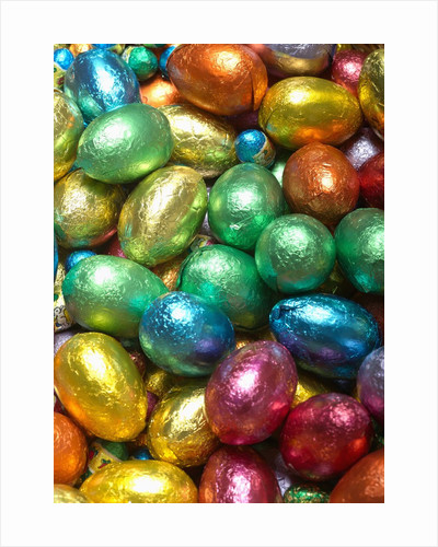 Colorful Chocolate Eggs by Corbis