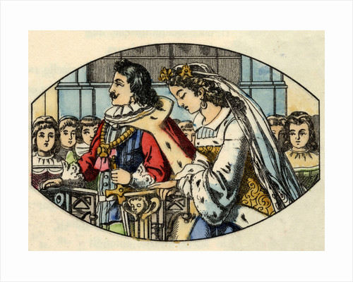 Illustration of the Marriage of Cinderella and the Prince by Corbis