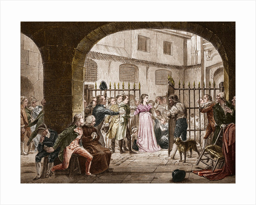 Illustration of Madame Roland Going to the Revolutionary Tribunal by Corbis