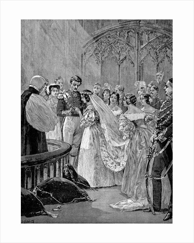 Illustration of the Marriage of Queen Victoria and Prince Albert by Corbis