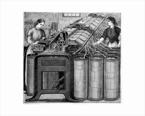 Illustration of the Manufacture of Cotton by Corbis
