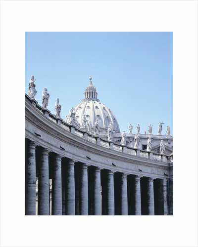 Colonnade and Dome, Piazza San Pietro by Corbis
