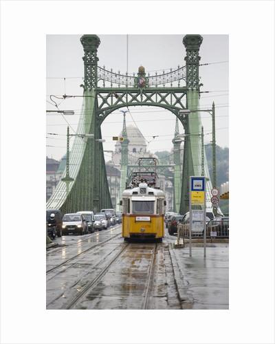 Tram on Elizabeth Bridge by Corbis