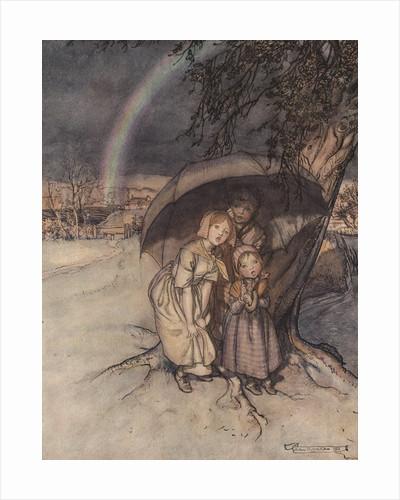 Rain, Rain, Go to Spain Illustration by Arthur Rackham