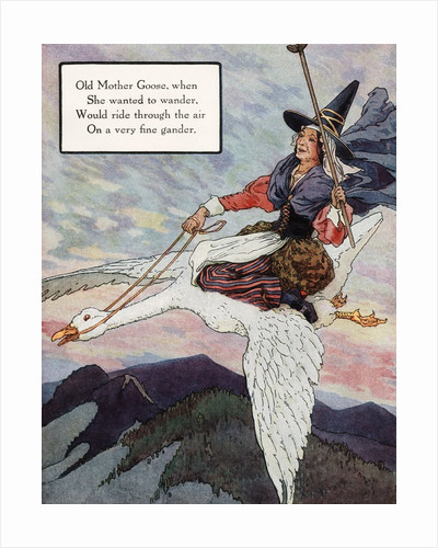 Old Mother Goose Illustration by Frederick Richardson
