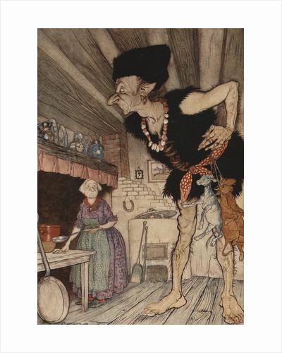 Fee-Fi-Fo-Fum, I Smell the Blood of an Englishman Illustration by Arthur Rackham