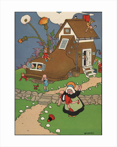 The Old Woman Who Lived in a Shoe Illustration by William Donahey