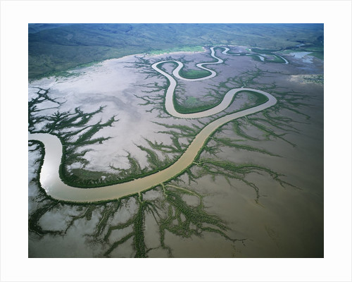 Meandering river in the Kimberley Region of Western Australia, aerial view by Corbis