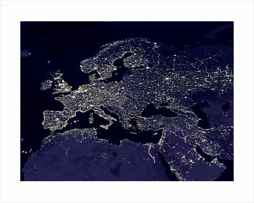 Europe at Night by Corbis