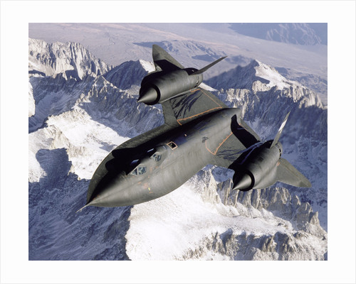 NASA SR-71 Research Aircraft in Flight by Corbis