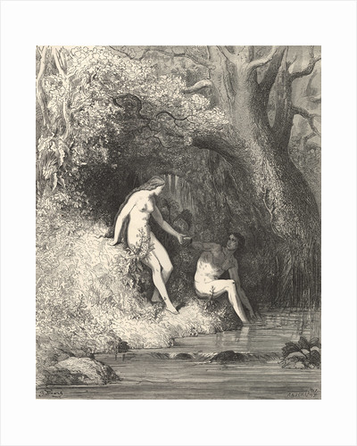 Adam and Eve in Paradise by Gustave Dore