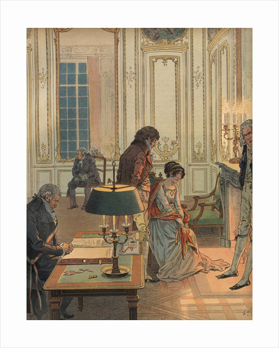 Illustration of Napoleon Bidding Josephine Farewell by Jacques Onfroy de Breville