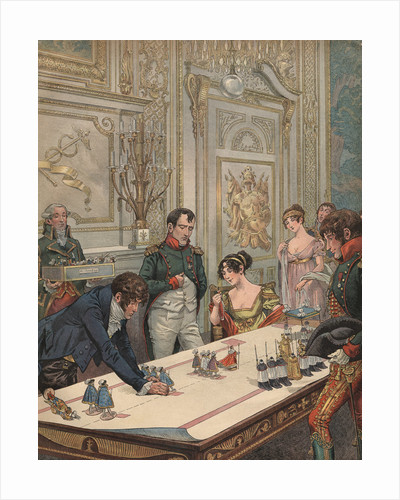 Illustration of Napoleon and Josephine Reviewing Model of Their Coronation by Jacques Onfroy de Breville