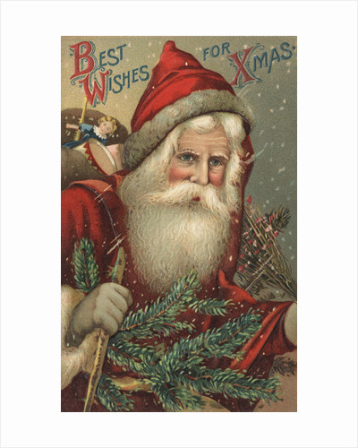 Best Wishes for Xmas Postcard by Corbis