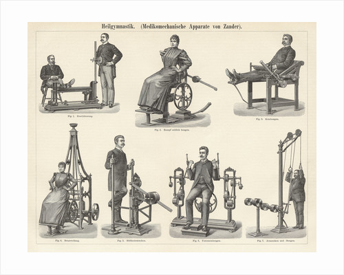 Physiotherapy Book Illustration by Corbis