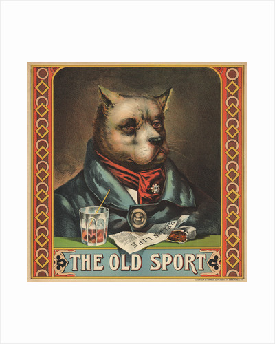 The Old Sport Tobacco Crate Label by Corbis