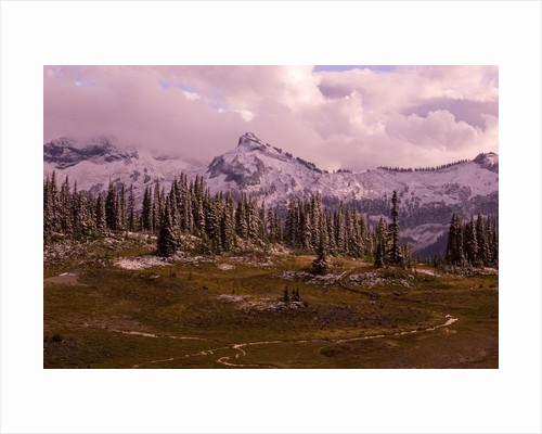 Pinnacle Peak in Winter by Corbis