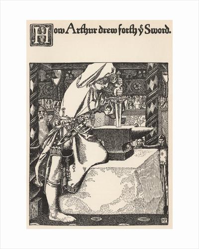 How Arthur Drew Forth Ye Sword by Howard Pyle