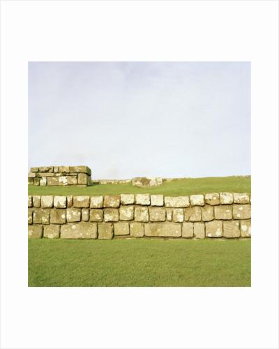 Roman Fort Ruins by Corbis