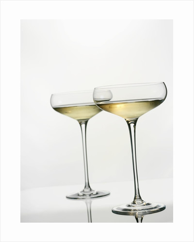 Two Glasses of Wine by Corbis