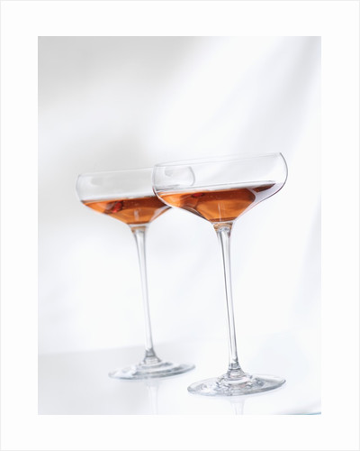 Two Glasses of Rose Wine by Corbis