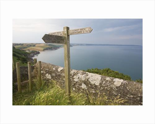 Direction Sign on Path Above Start Bay in Devon by Corbis