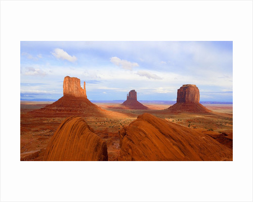 Mitten Buttes and Merrick Butte in Monument Valley by Corbis