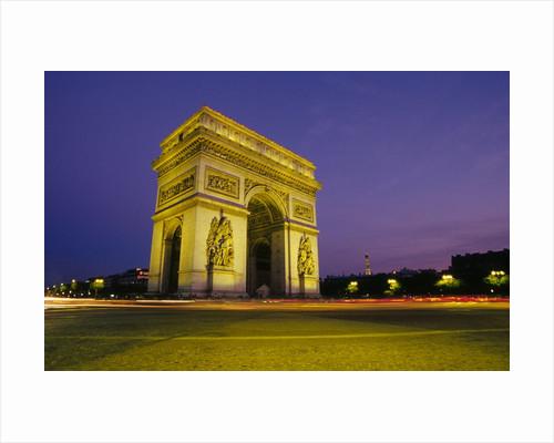 Arc de Triomphe at Dusk by Corbis