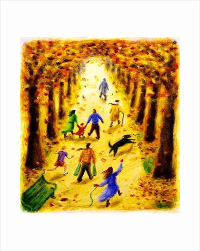 Autumn Stroll by Corbis