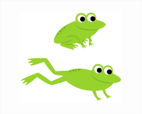 Two Frogs Leaping by Corbis