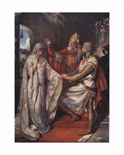 The Marriage of King Arthur and Queen Guinevere by John H. Bacon