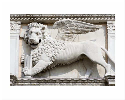 Stone Carving of Winged Lion of St Mark by Corbis