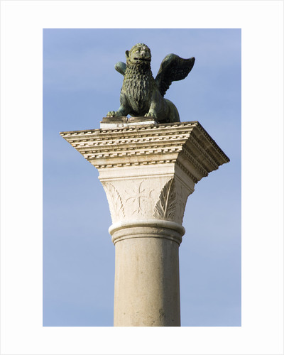 The Winged Lion of Venice Atop The Column of San Marco by Corbis